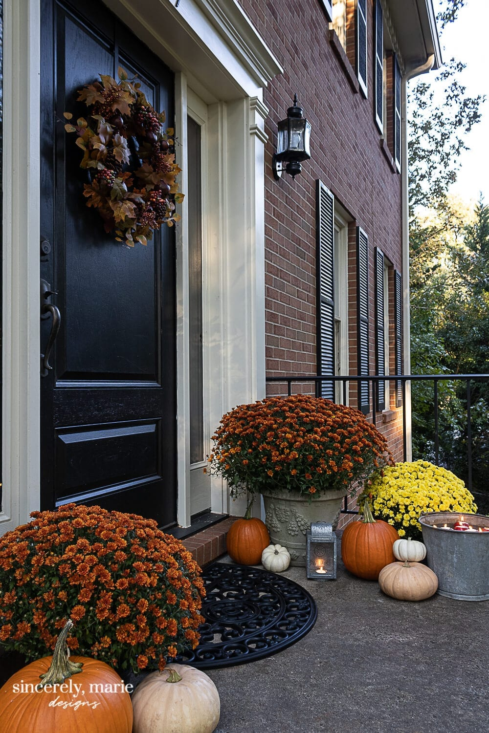 Welcome Home Sunday: Our Fall Porch At Dusk