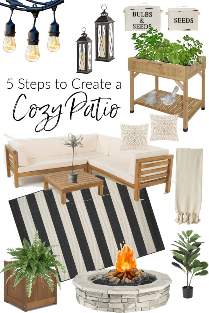 Welcome Home Sunday- 5 steps to create a cozy patio