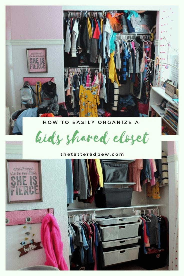 Do your kids share a closet? Come see how to easily organize their shared closet!