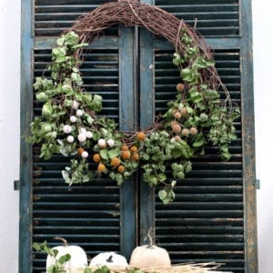 Make this large DIY Fall farmhouse wreath for under $20!