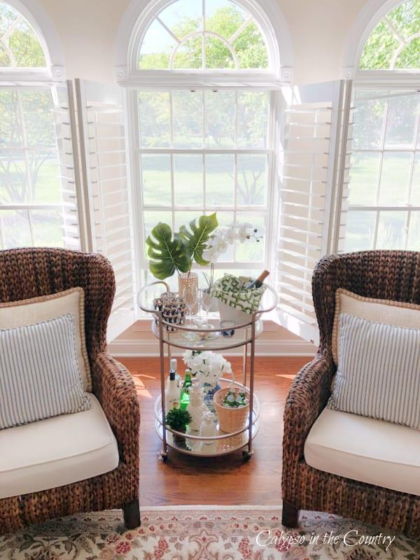 Bar Cart and seagrass chairs - summer inspiration