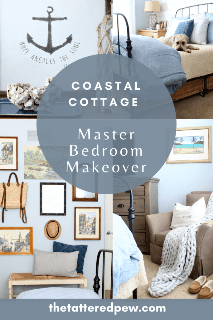 Come see our coastal cottage master bedroom makeover with Wayfair!