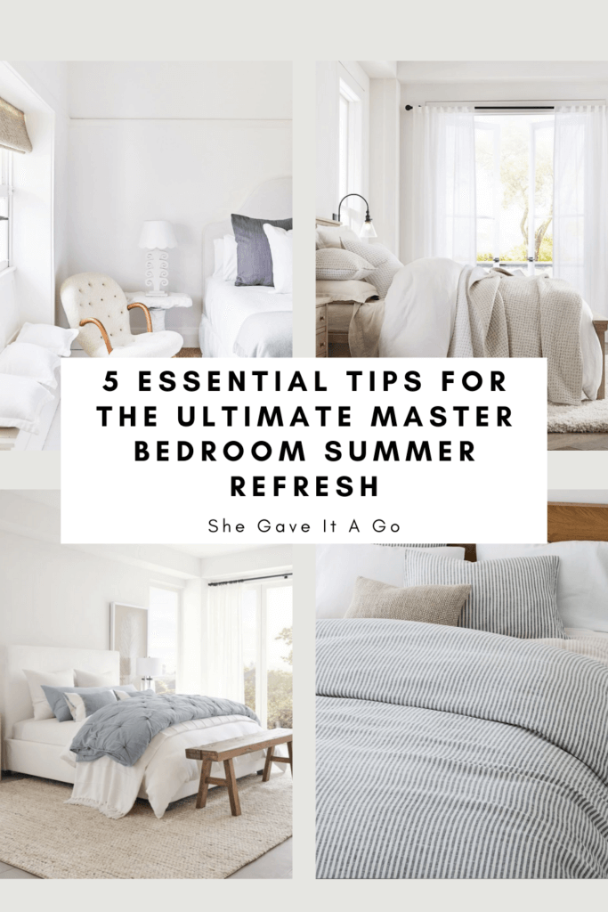 Welcome Home Saturday: Master Bedroom Summer Refresh Tips