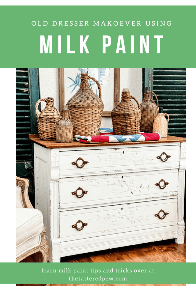 This dresser just needed a little TLC and some milk paint for one amazing makeover!