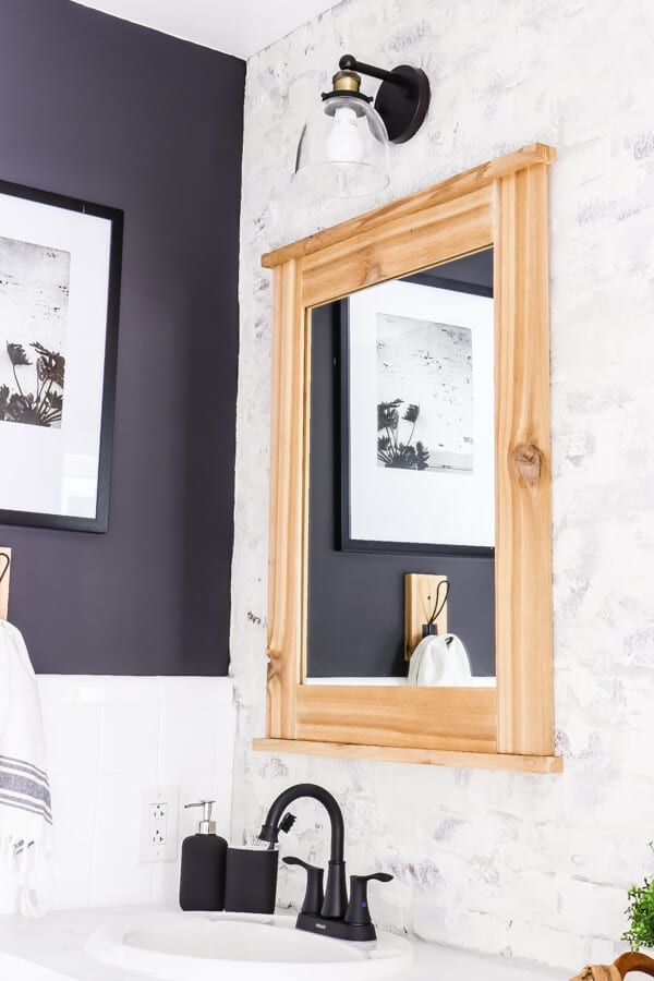 Welcome Home Sunday: DIY cedar framed mirror.