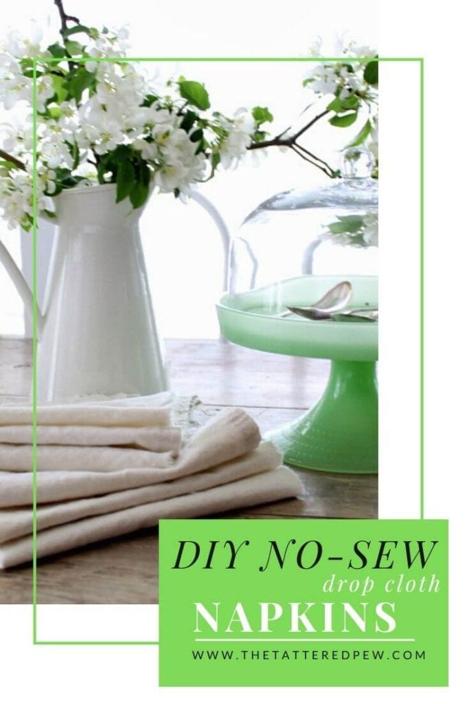 These DIY no-sew napkins are easy to make and just what any table needs.