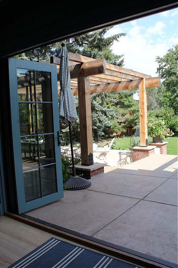COme on out via our trifold doors andwalk straight onto our patio with views of our back yard.