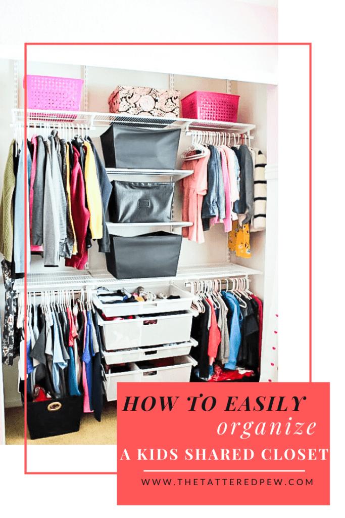 How to easily organize a shared kids closet!
