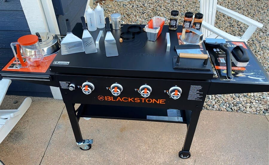 Our Blackstone griddle has become our new favorite way to cook outdoors!