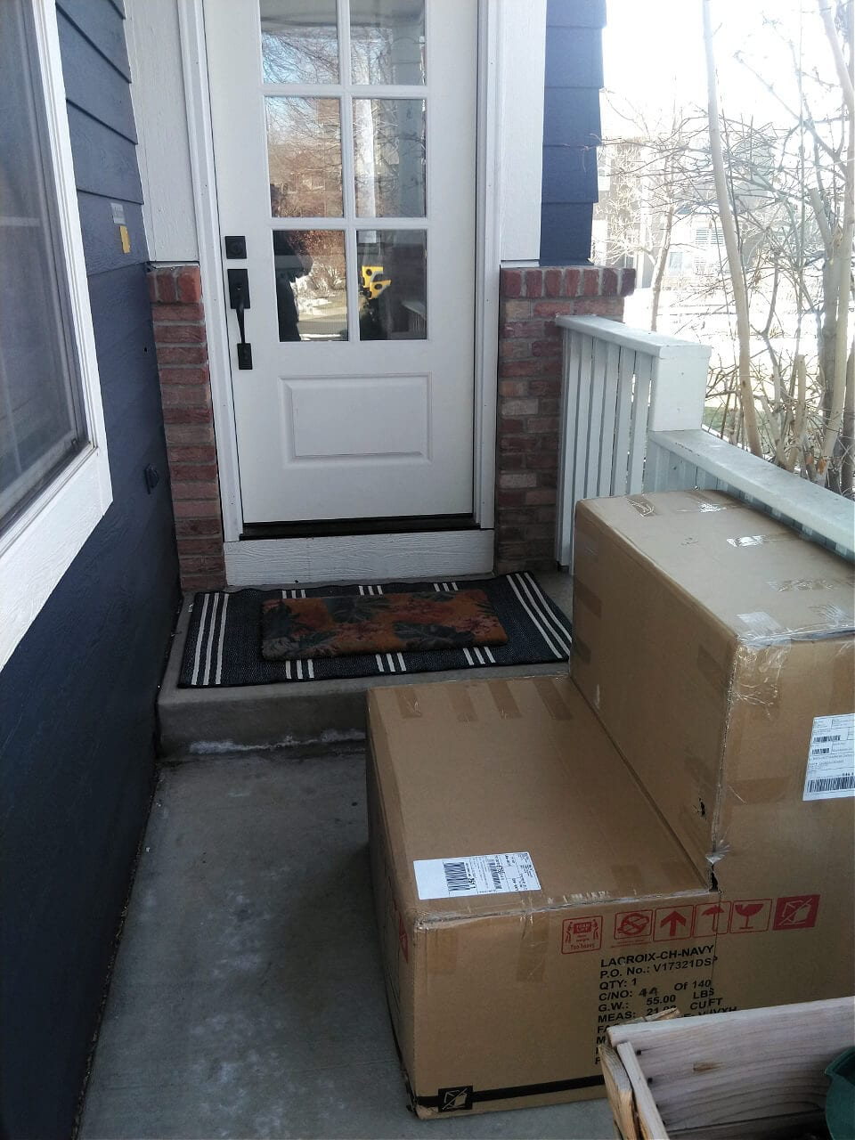 Porch delivery from Wayfair!