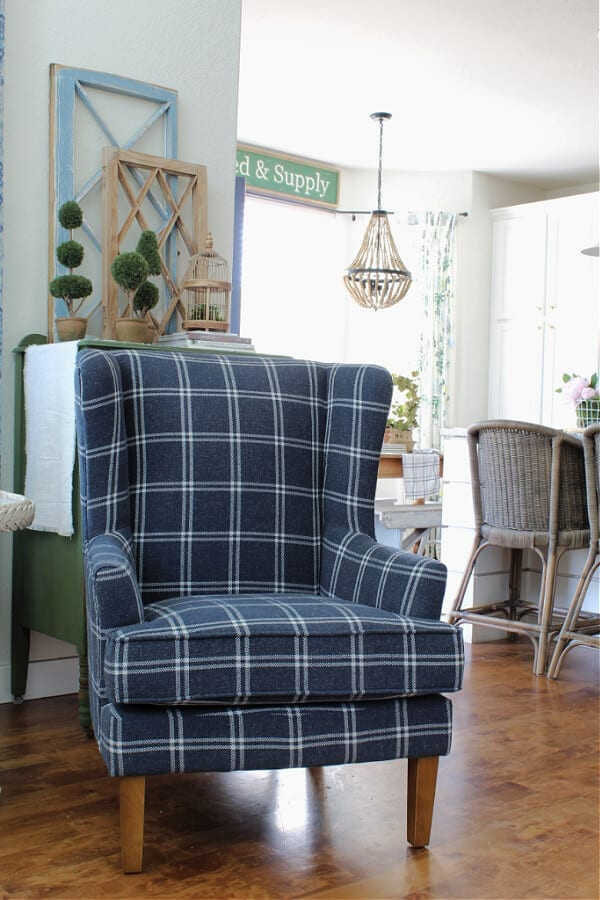 Our New Blue Accent Chair From Wayfair