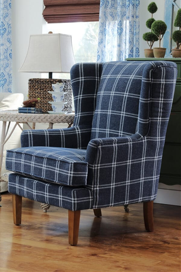 The Cheney Wingback chair from Wayfair