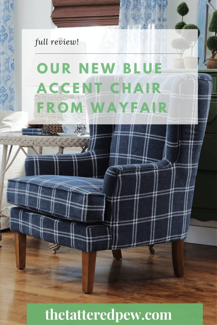 A full review of our new blue accent chair from Wayfair!