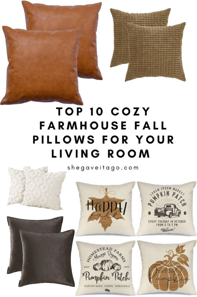 Welcome Home Saturday: The best fall farmhouse pillows!