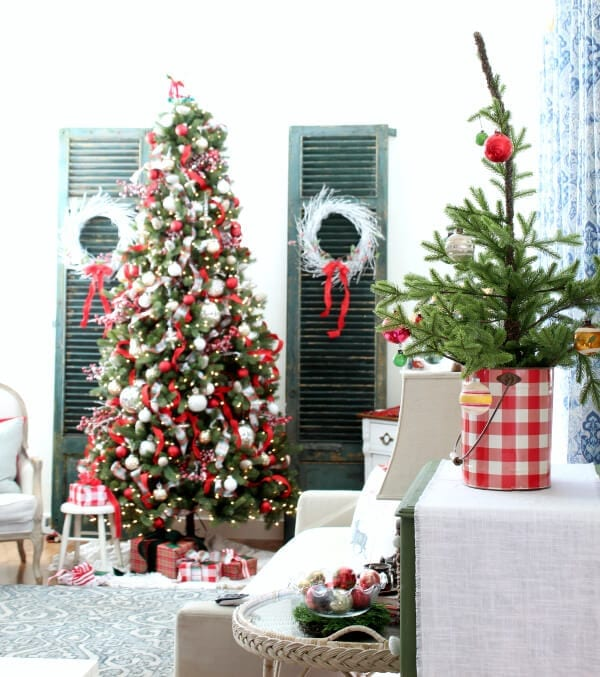 A Christmas featuring plaids, red, whites and greens!