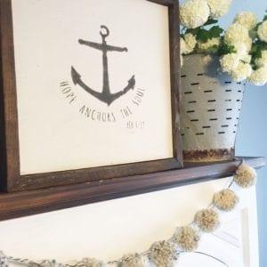 Poms anchor flowers