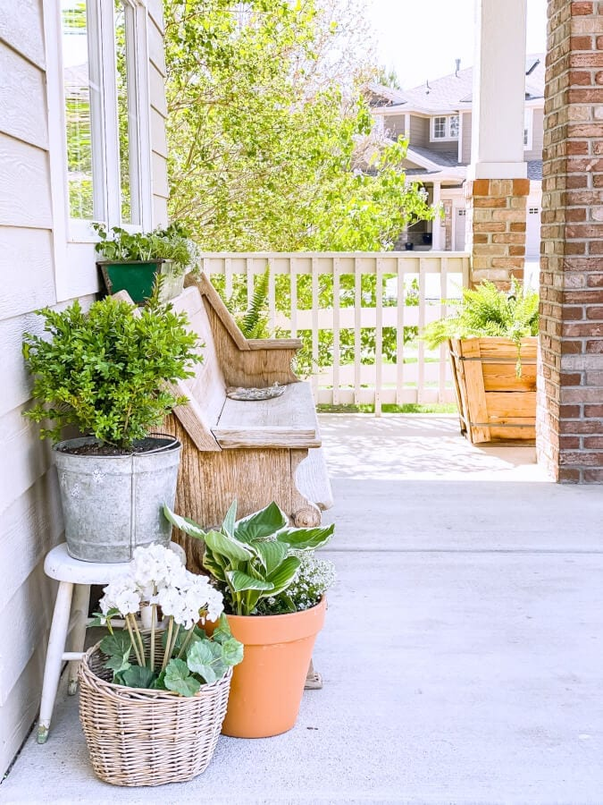 Preparing our porch for spring is always one of my favorite things to do!