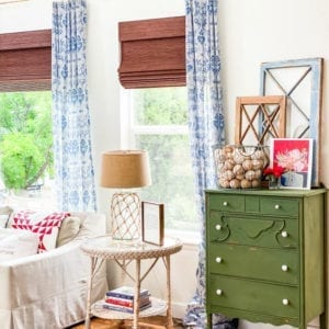 Need some inspiration and ideas for your summer decor? Stop by and see how I used red, white, and blue to decorate for summer!