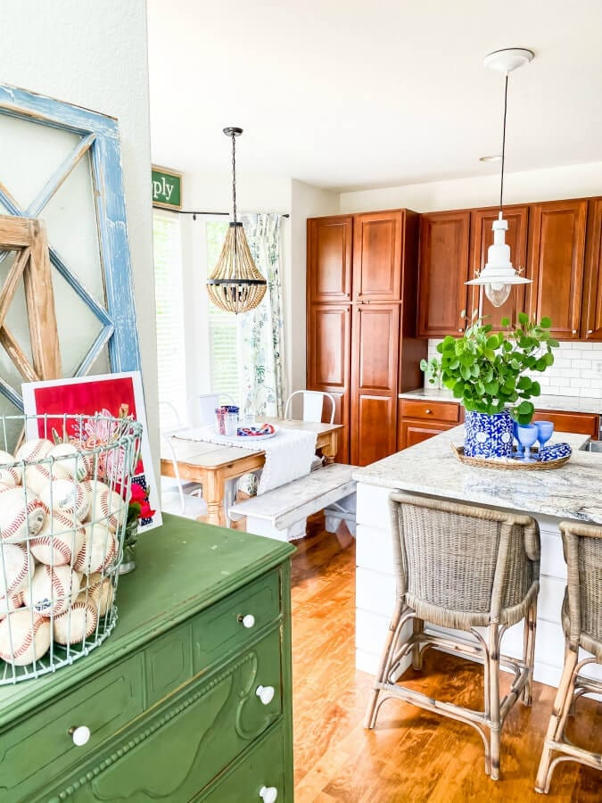 Red White And Blue Decorating Ideas For Summer The Tattered Pew