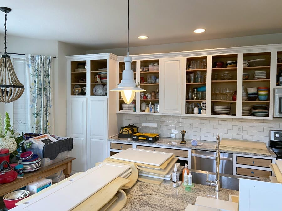 Our refinished cabinets are almost done!