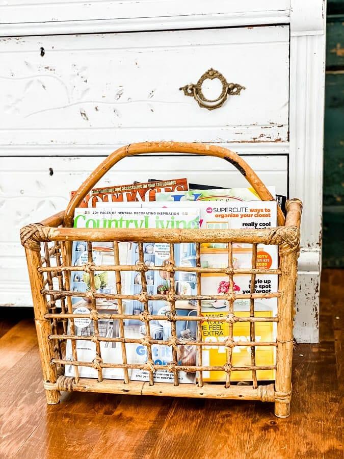 Repurposed Vintage Magazine Rack Ideas