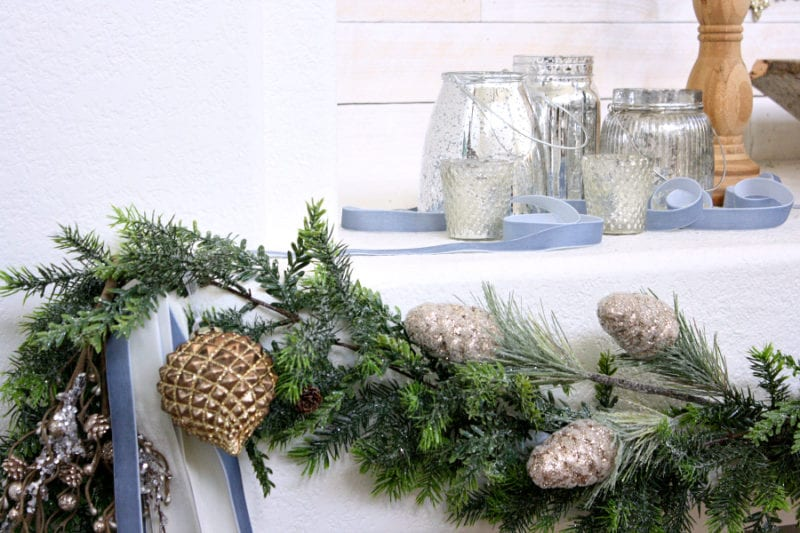 Rustic and elegant garland for your Christmas mantel.