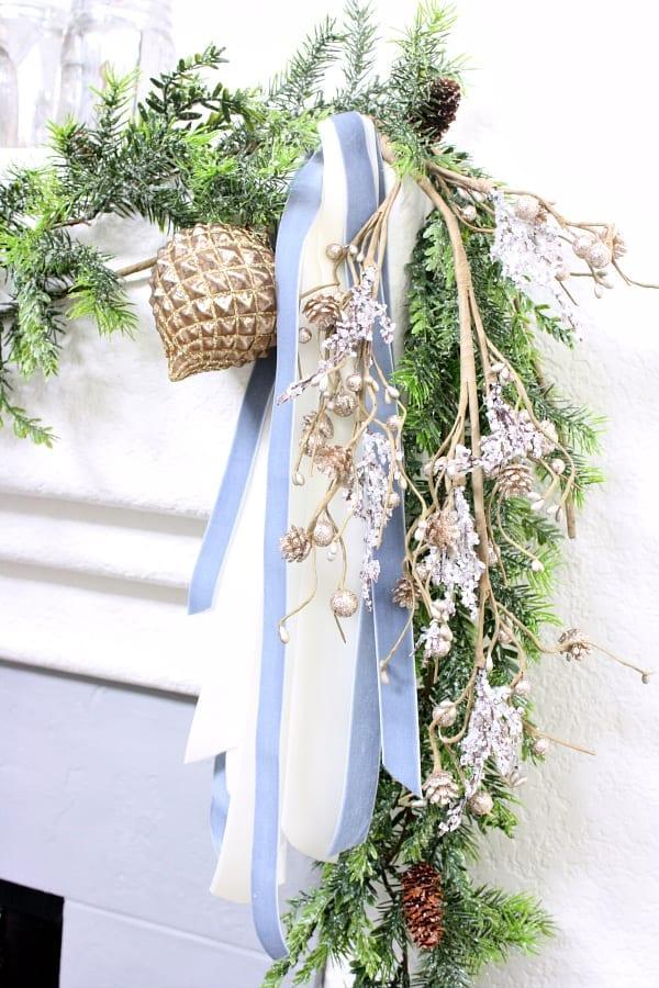 Velevet ribbon and Christmas decor.