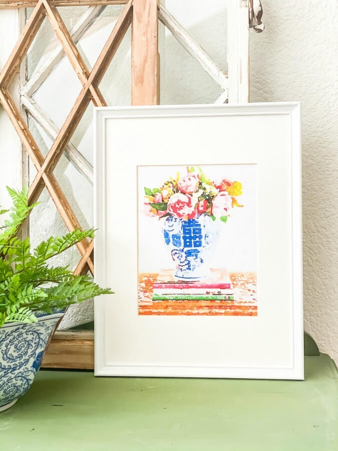 Use this seceret trick for creating inexpensive watercolor art!