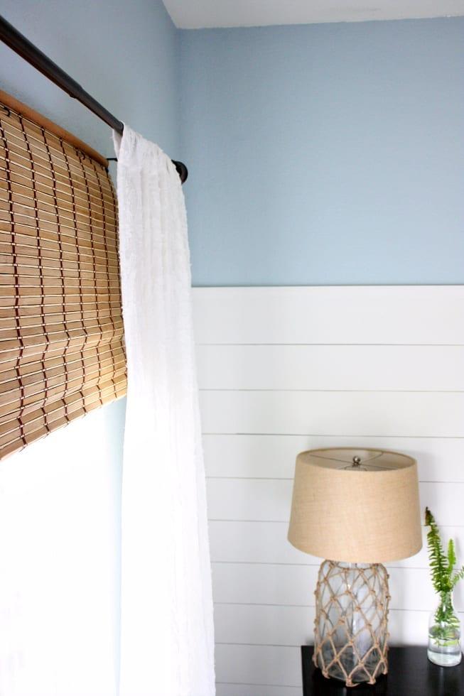 Inexpensive Bamboo Shades | $100 Room Challenge Week 3