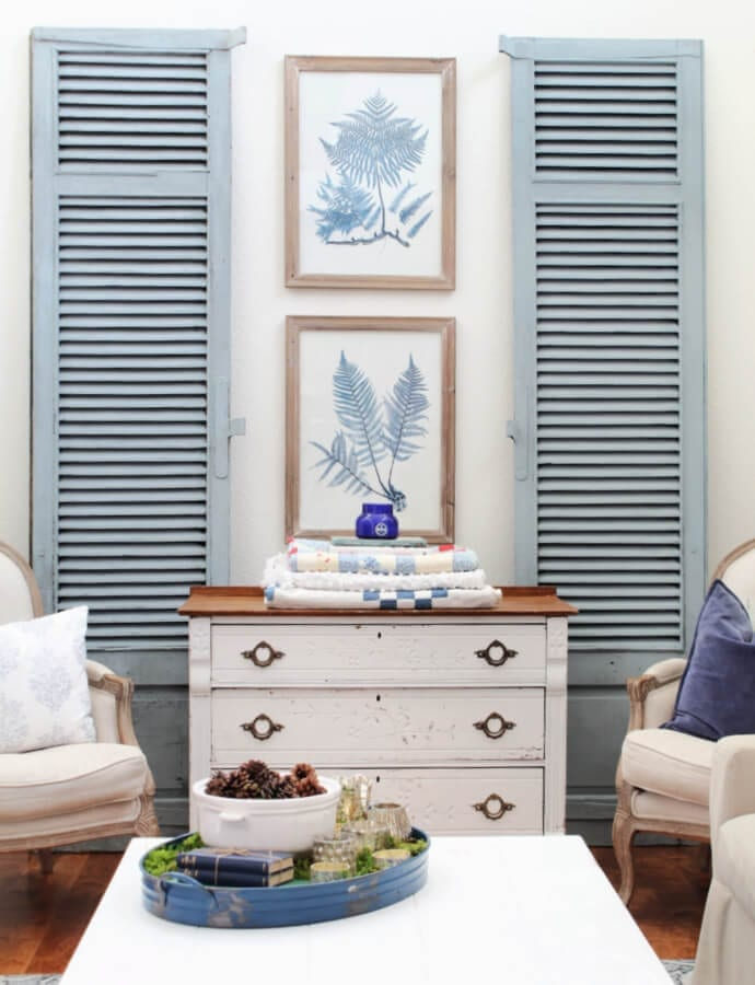 Shutters Painted In Bergere By Miss Mustard Seed's Milk Paint