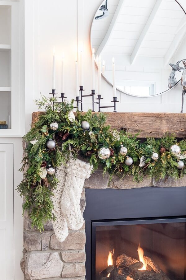 Christmas Mantle Inspiration from Lily Pad Cottage