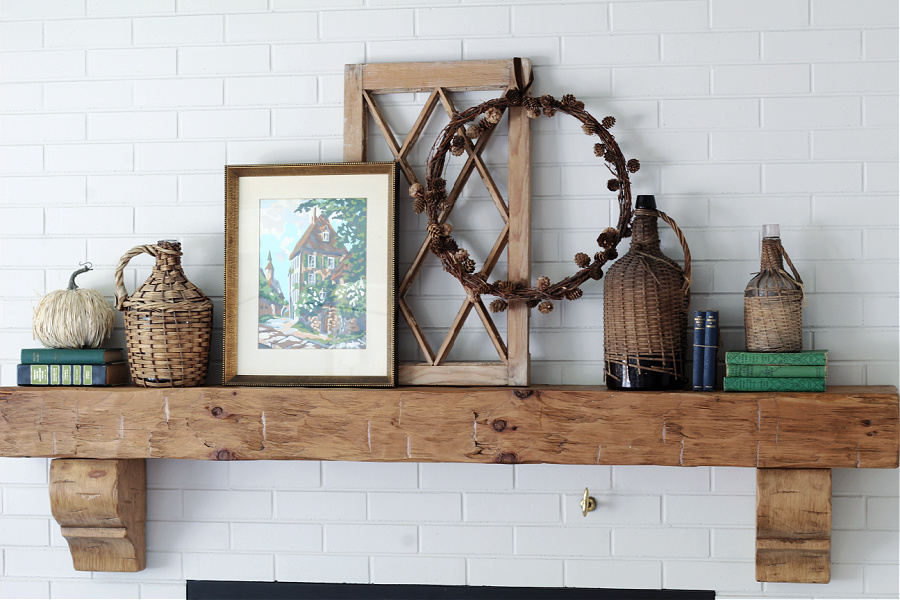 Welcome Home Saturday: Simple and COlorful Fall Decorating Ideas For Your Fall Mantel
