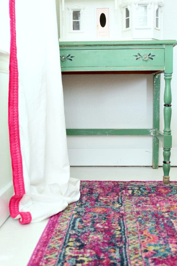 Simple No Sew Drop Cloth Curtains With Colorful Tassel Trim