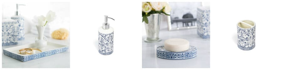 New accessories for your bathroom counters always help freshen up a space!