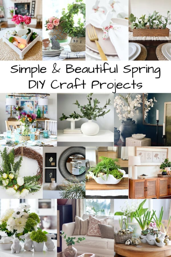 Simple and Beautiful Spring DIY Craft Projects!