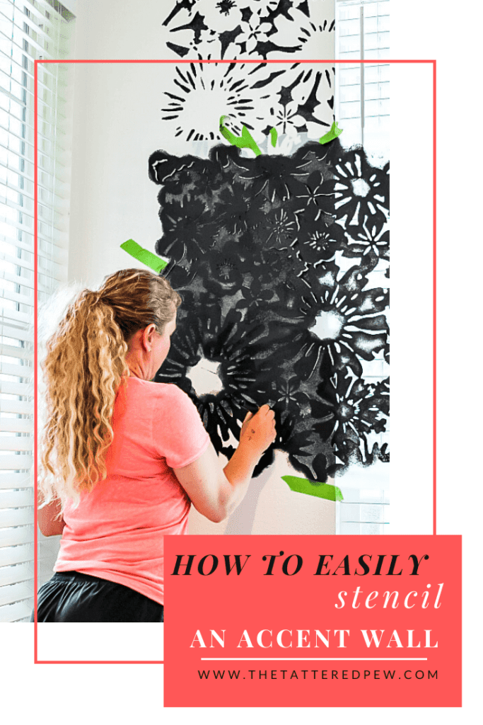 How To Easily Stencil an Accent Wall.