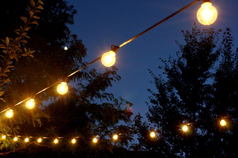 Outdoor cafe lights