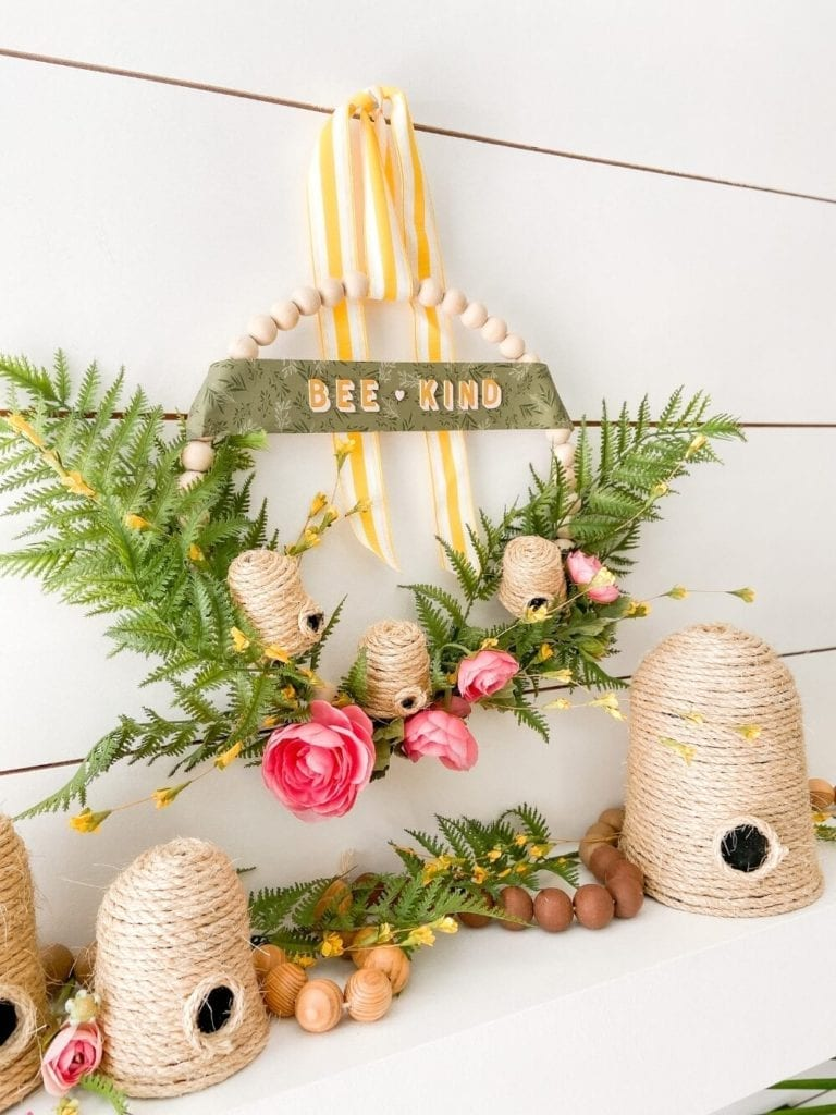 Welcome Home Saturday: Summer Beehive Beaded Wreath
