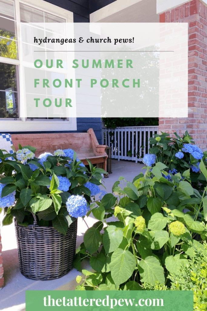 Our summer front porch tour
