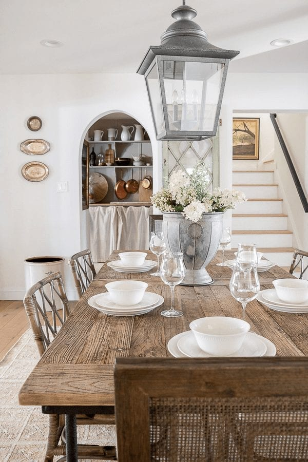 Welcome Home Sunday: Daily table setting.
