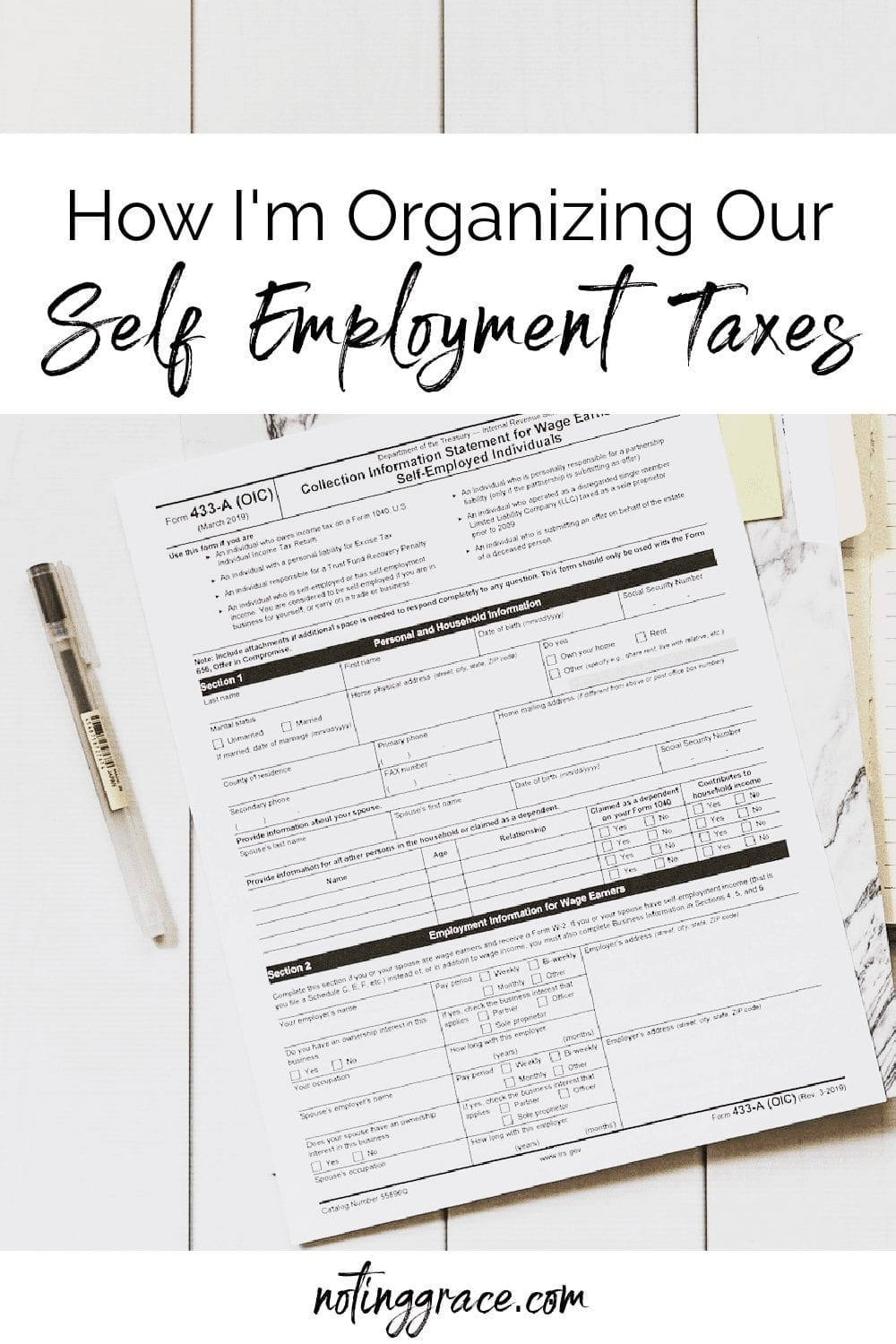 Welcome Home Saturday: self employment taxes