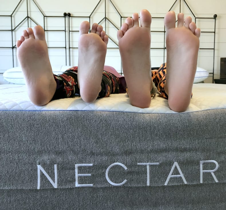 Happy feet on our new Nectar mattress.