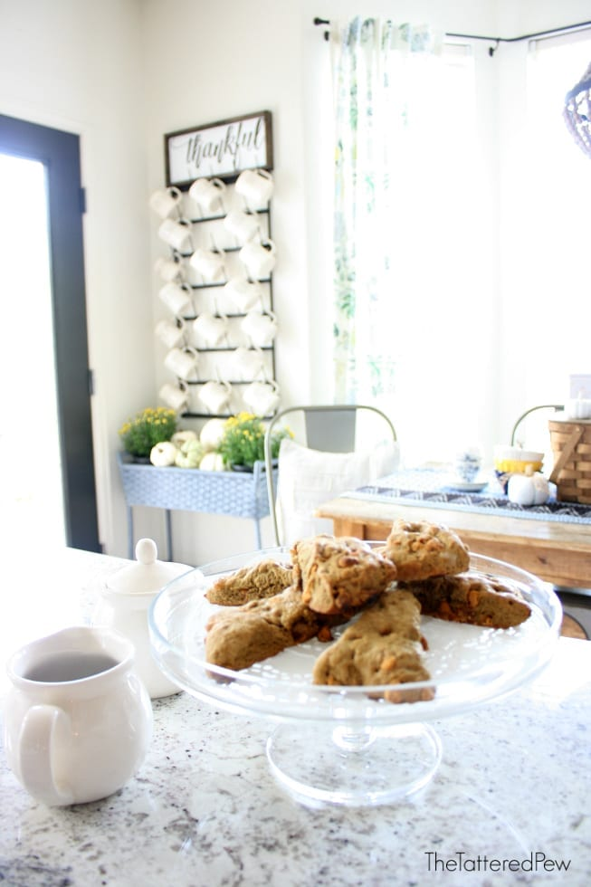 Scones make the best Fall and Thanksgiving treats. -The Tattered Pew