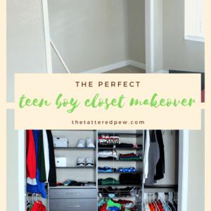 The perfect teen boy closet makeover.