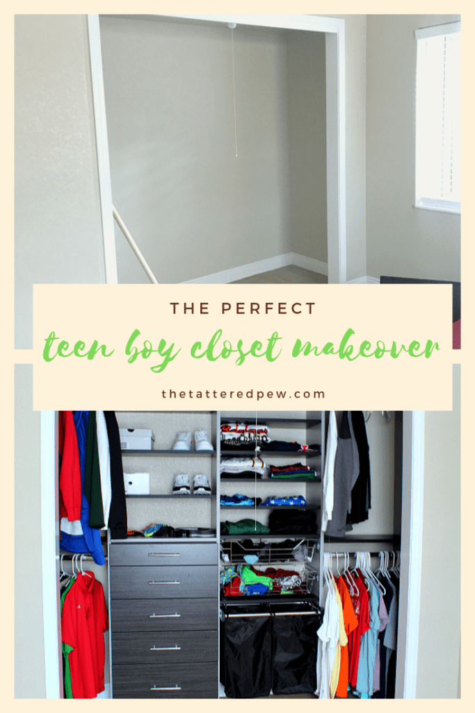 The perfect teen boy closet makeover.