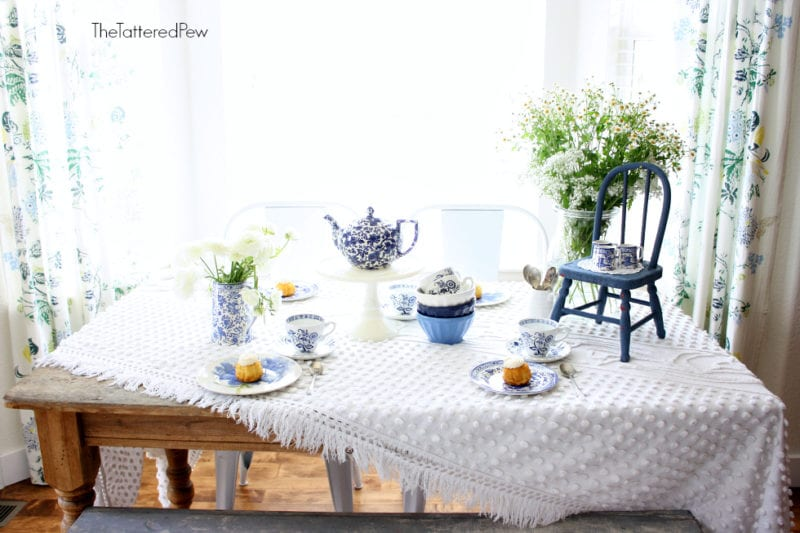 A blue and white tea party!