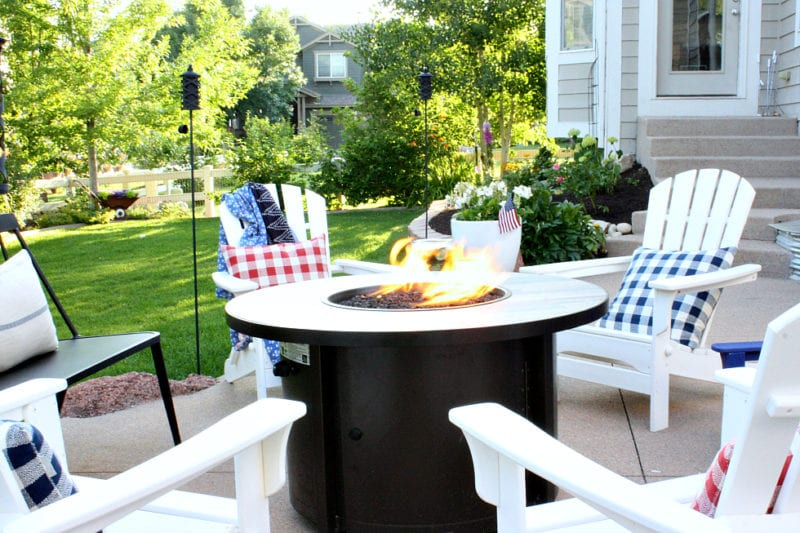Backyard patio and fire pit time hold some of the best Summer time memories.