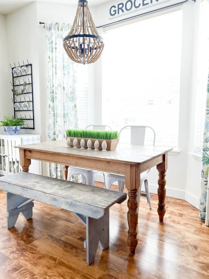 Our kitchen table is one of my all time favorite pieces and it was given to me for free!