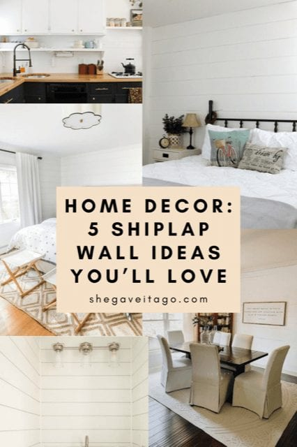 Welcome Home Saturday: 5 Shiplap Wall Ideas You will Love!