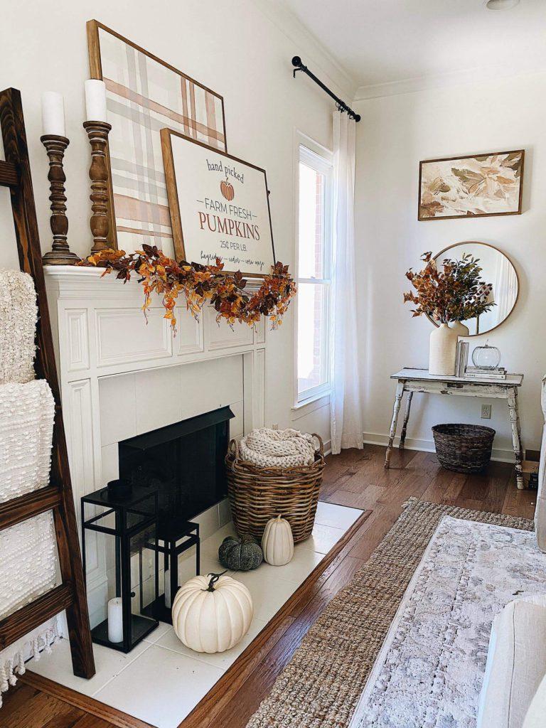 Welcome Home Saturday: Cozy Farmhouse Fall Mantel Decor